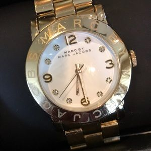 MARC By MARC JACOBS GOLD LOGO WRIST WATCH